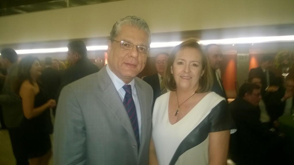 Pres. CSP-MG João Paulo e a pres. Sincor-MG Maria Filomena Branquinho