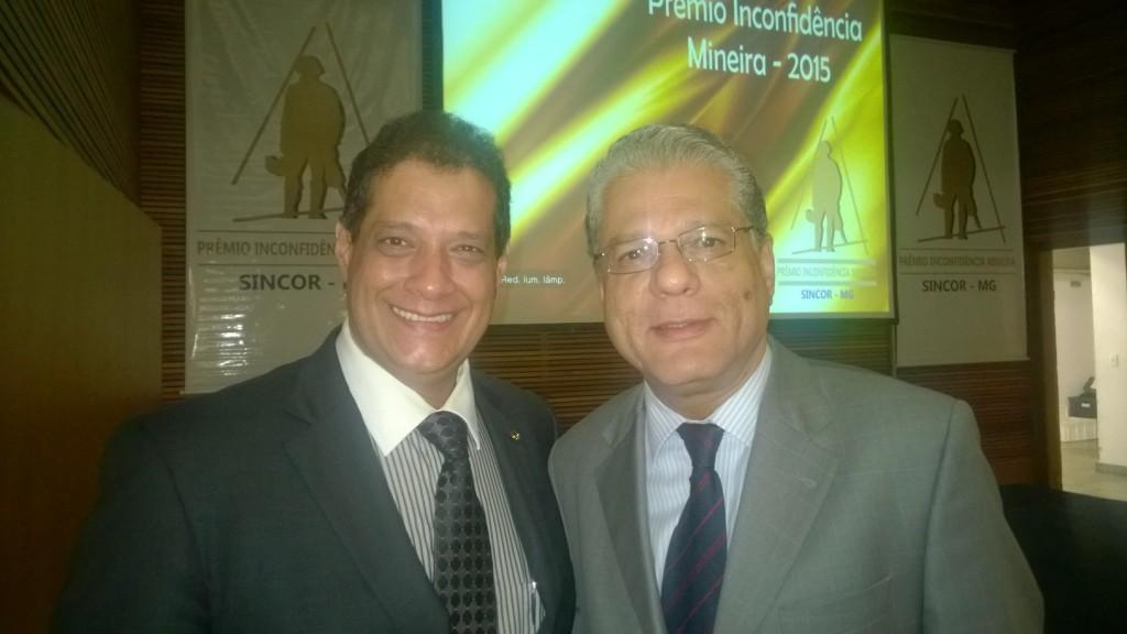 Pres. Fenacor Armando Vergílio e o pres do CSP-MG João Paulo Mello