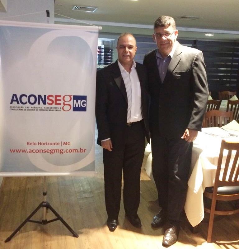 Jader Abreu (pres. Aconseg-MG) e Mauricio Tadeu Morais (vice-pres. CSP-MG)
