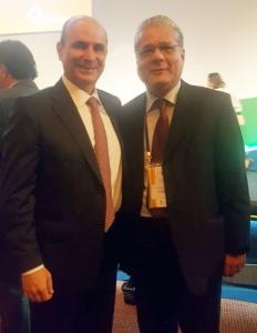 Edson Franco (presidente da FenaPrevi) e João Paulo Moreira de Mello (presidente do CSP-MG)