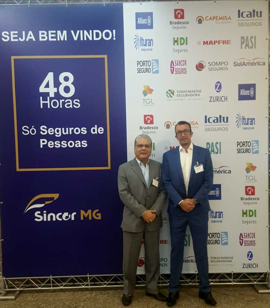 João Paulo e Rogério Araújo, diretor do Sincor-MG