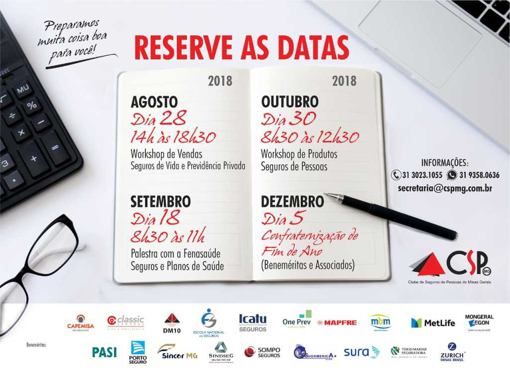 Reserve as datas