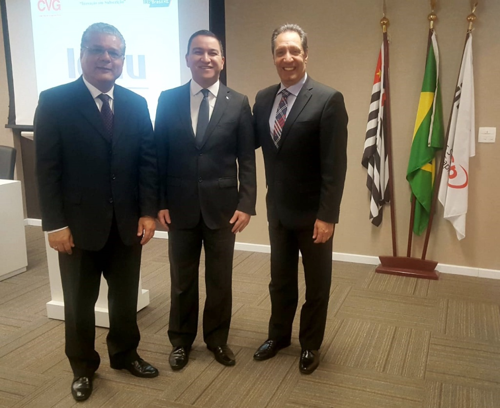 João Paulo Mello (presidente do CSP-MG), Silas Kasahaya (presidente do CVG-SP) e David Novloski (conselheiro do CVG-PR)