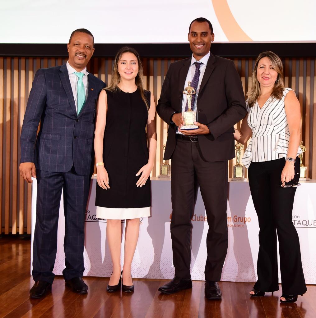 Carlos Ivo Gonçalves (presidente do CVG-RJ), Fabiana Resende (diretora Social do CSP-MG), Thiago Machado Sayao (gerente da Bradesco Seguros), Leila Nogueira (vice-presidente do CVG-RJ)