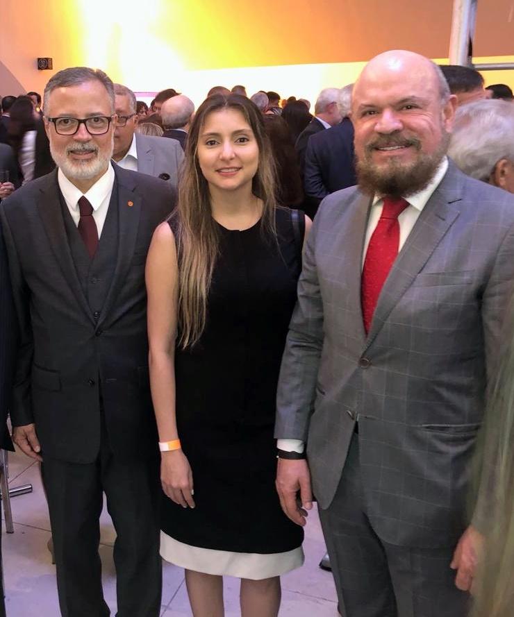 Marcello Hollanda (ex-presidente do CVG-RJ e atual assessor da diretoria da entidade), Fabiana Resende e Hélio Loreno (Conselho Consultivo do CSP-MG)