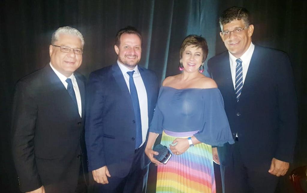 João Paulo, Alexandre Godinho e Elaine Patente (Peper), Mauricio Tadeu Barros Morais (diretor Tesoureiro do CSP-MG)
