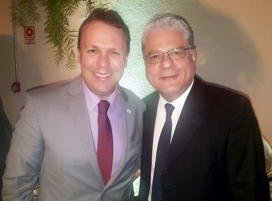 Marcelo Braz (diretor do SindSeg e pres. do Clube da Bolinha) e João Paulo