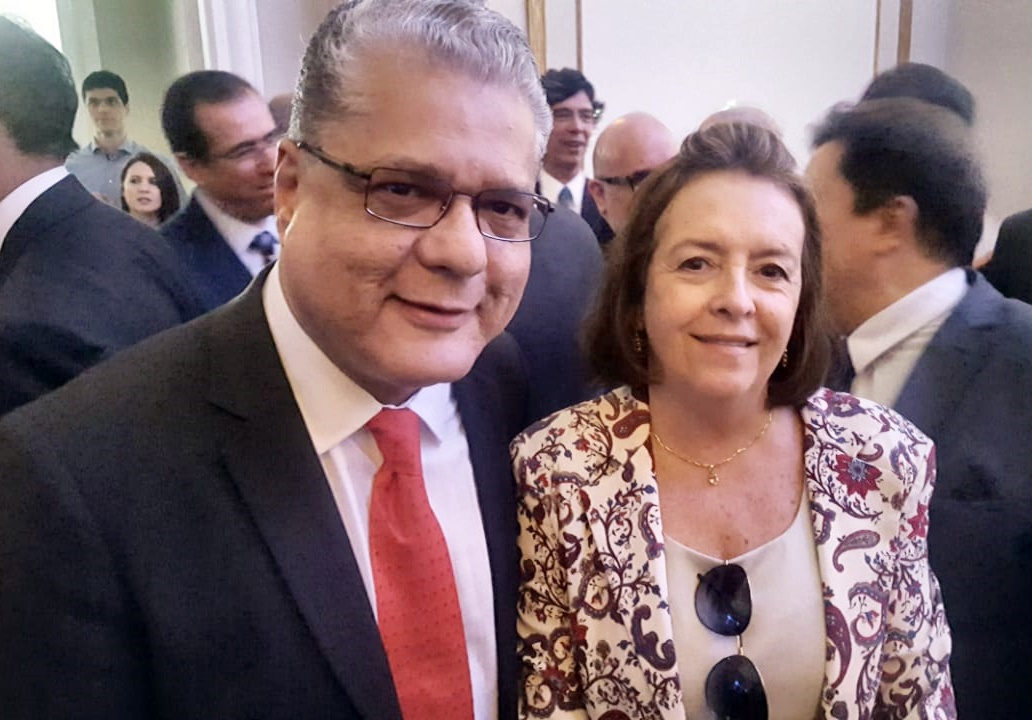 João Paulo e Maria Filomena Branquinho (presidente do Sincor-MG)