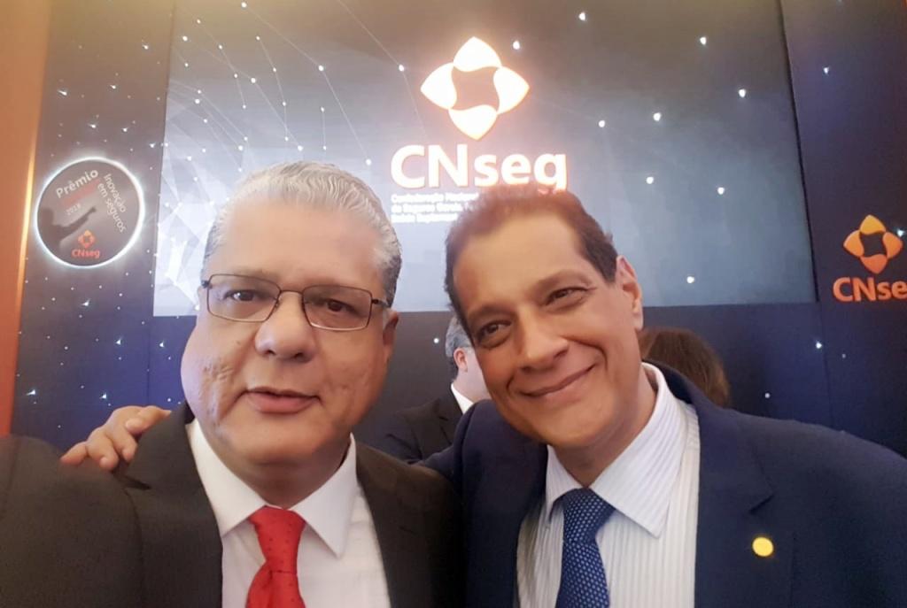 João Paulo Mello e Armando Vergilio (presidente da Fenacor)