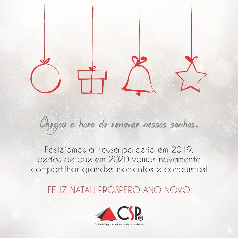 CSP-MG deseja Boas Festas