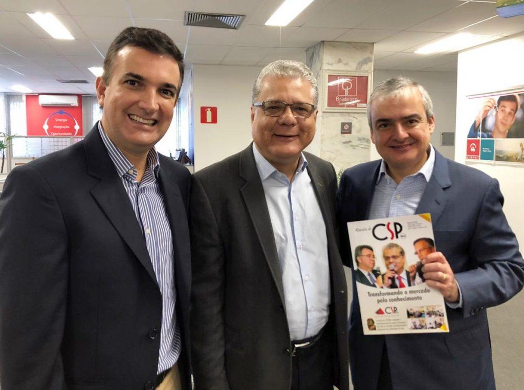 CSP-MG participa de encontro com presidente da Bradesco Seguros